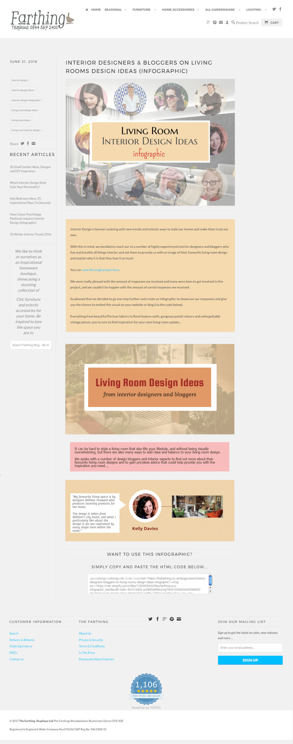 Interior Designers Bloggers Living Rooms Design Ideas Infographic The Farthing FINAL