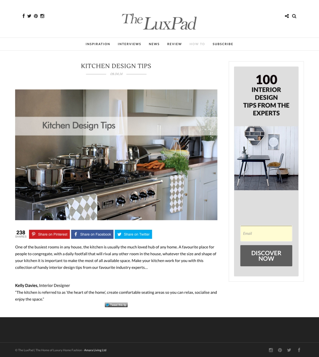 Kitchen Design Tips The LuxPad FINAL